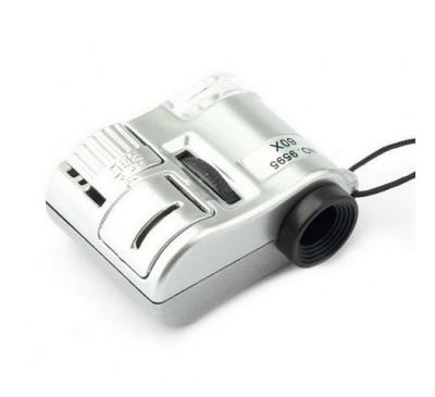 Микроскоп карманный (увеличение 60x) со светодиодом + чехол / Pocket Micro