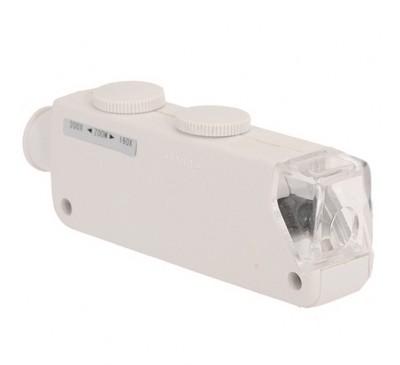 Микроскоп карманный (увеличение 160x-200x) со светодиодом + чехол / Pocket Micro
