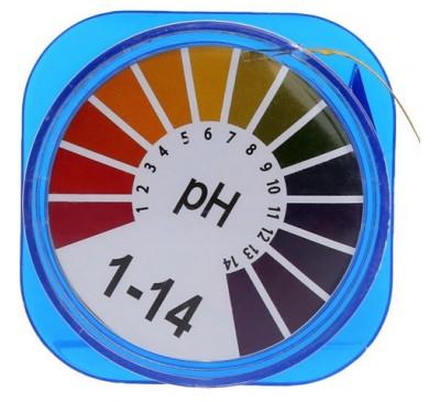 Лакмусовая бумага 1-14 Ph (бабина, 5м) / (тестер Ph / кислотности воды)