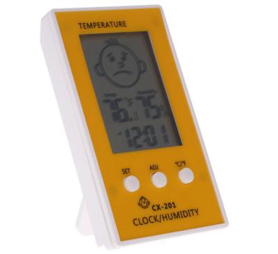 Термометр + Гигрометр + Часы (1шт.)