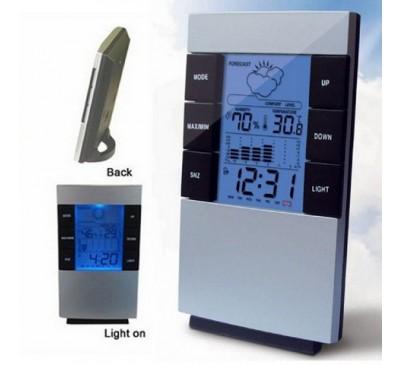 Термометр + гигрометр + часы + календарь + будильник (1 шт.)
