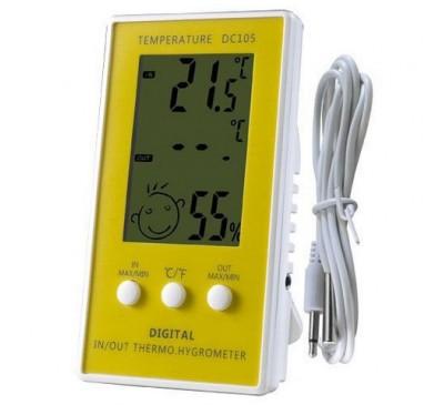 Термометр + гигрометр с выносным датчиком (щупом) 1 шт.