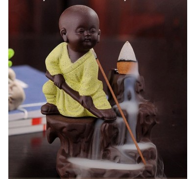 "Подставка-жаровня для ладана ""Монах в зеленом"" (керамика) / Incense fryer"