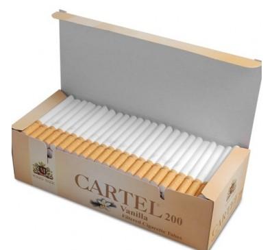 Гильзы для набивки сигарет Cartel 200 шт/уп (вкус Ванили) / Cartel Vanilla