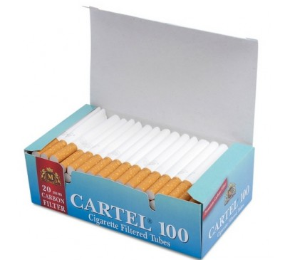 Гильзы для сигарет Cartel (угольные фильтры) 100 шт/уп