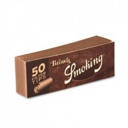 Фильтры для самокруток /неотбеленная бумага/ (50 шт) / Smoking Brown