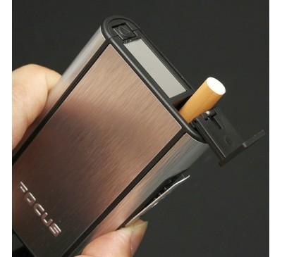 Портсигар с механизмом выдачи сигарет (металлик) / Focus