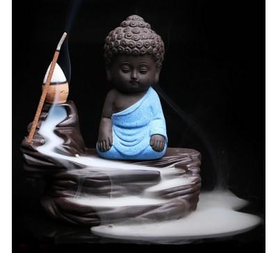 """Подставка-жаровня для ладана """"Монах в синем"""" (керамика) / Incense fryer"""