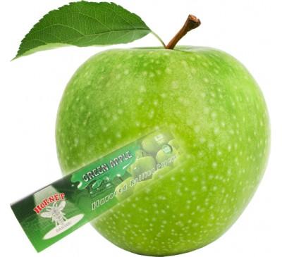 """Бумага для самокруток ароматизированная """"Зеленое Яблоко"""" (110 мм, 32 шт.) / Hornet Green Apple"""